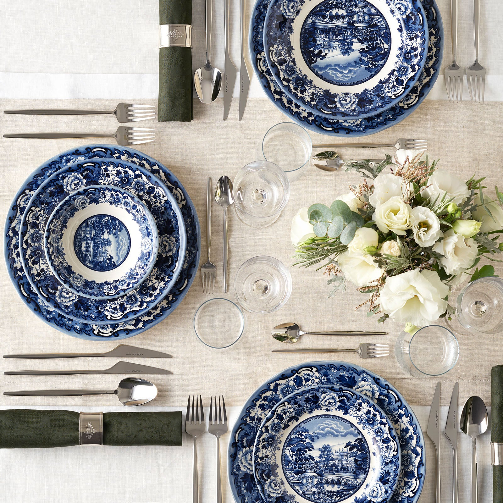 24 pieces Blue Odyssey 6 Person Dinner Set 153.03.05.0037 -  طقم عشاء 24 قطعة بلو اوديسي 6 اشخاص - Shop Online Furniture and Home Decor Store in Dubai, UAE at ebarza