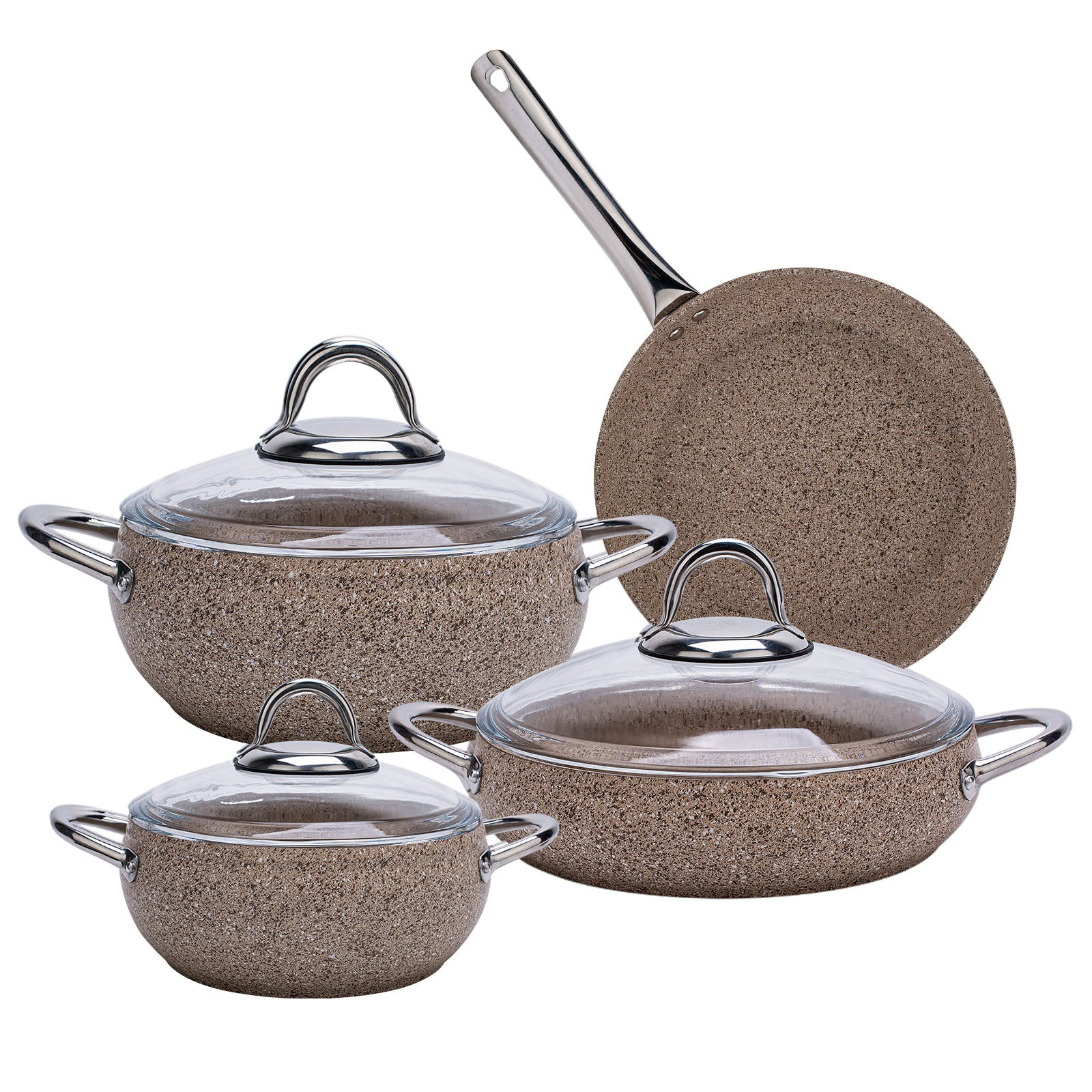 Avanos Terra Bio Granit 7 Piece Cookware Set Set 153.03.07.8952 -  طقم أواني الطهي 7 قطع - Shop Online Furniture and Home Decor Store in Dubai, UAE at ebarza