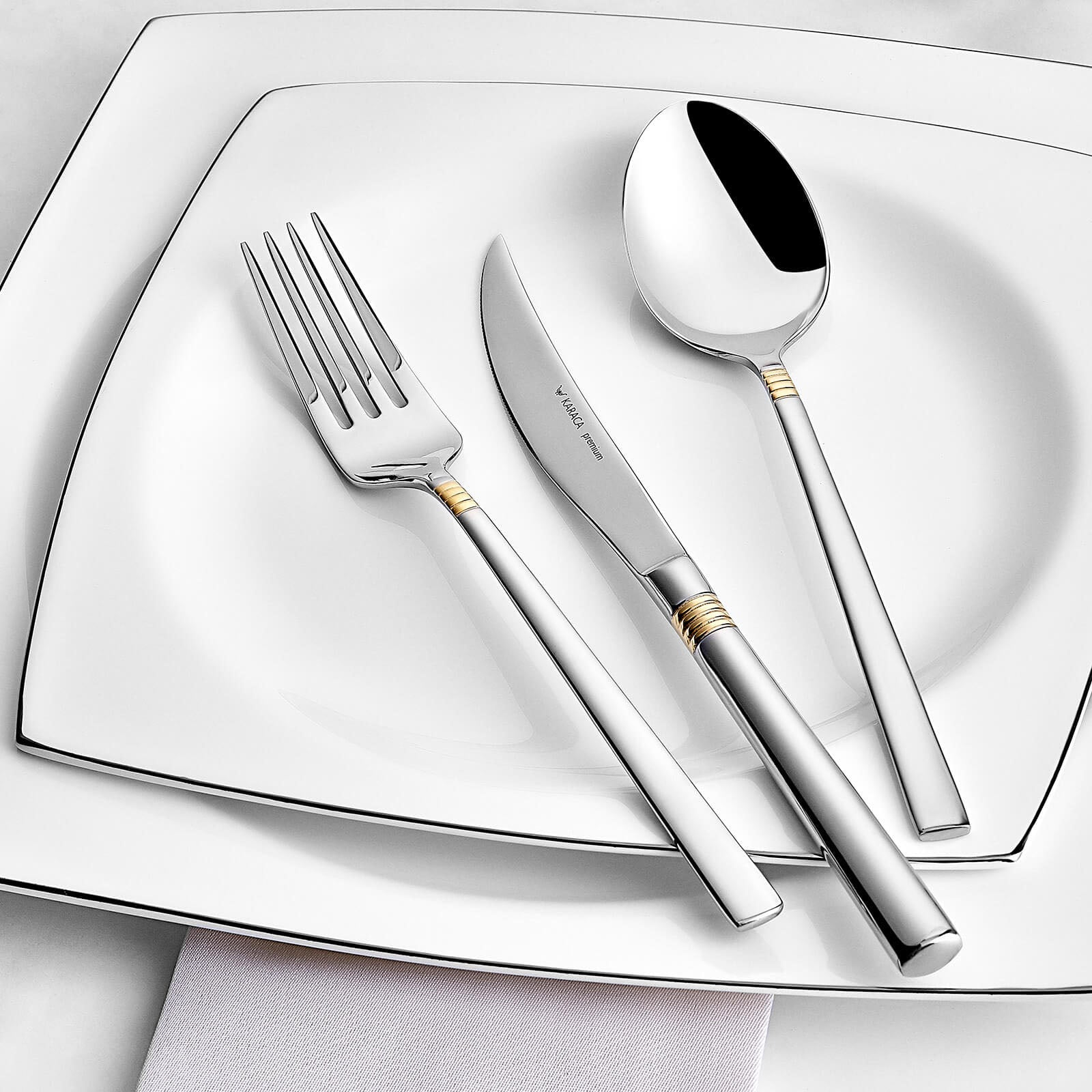 Nil Gold 84 Pieces Cutlery Set With Box 153.02.01.0233