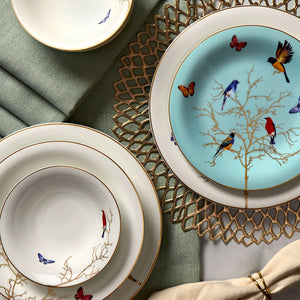 Pre-order 30 days delivery Karaca Fine Pearl Grace Mint 86 Pieces İnci Dinner Set 153.03.07.4554