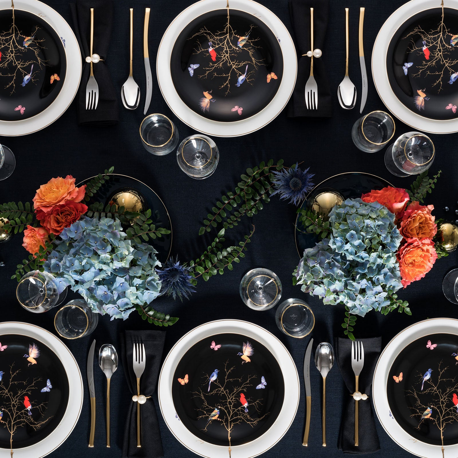 Fine Pearl Grace Black 86 Pieces İnci Dinner Set porcelain 153.03.07.4555 -  طقم عشاء فاخر من بيرل غريس أسود 86 قطعة بورسلين - Shop Online Furniture and Home Decor Store in Dubai, UAE at ebarza
