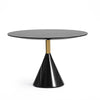 Pre-order 60 Days Delivery Madrid  Natural marble side Table ST8644-70A-BK