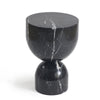 Pre-Order 60 days Delivery Chess Natural marble side Table ST8687-30-BK