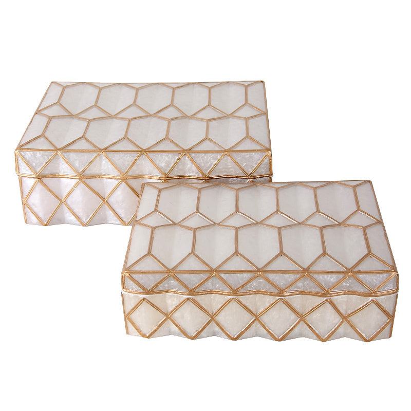 2x Handmade Decorative/JEWELRY BOX FA-SZ1910A+B -  2x ديكور يدوي / صندوق مجوهرات - Shop Online Furniture and Home Decor Store in Dubai, UAE at ebarza