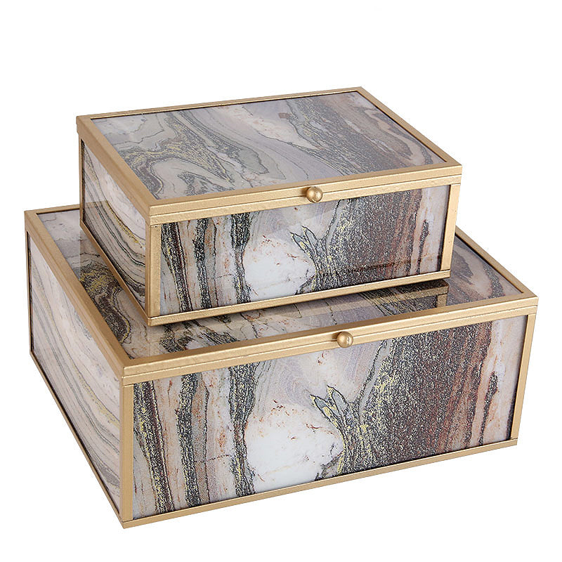 2x Handmade Decorative/JEWELRY BOX FACBJ12B+A - ebarza