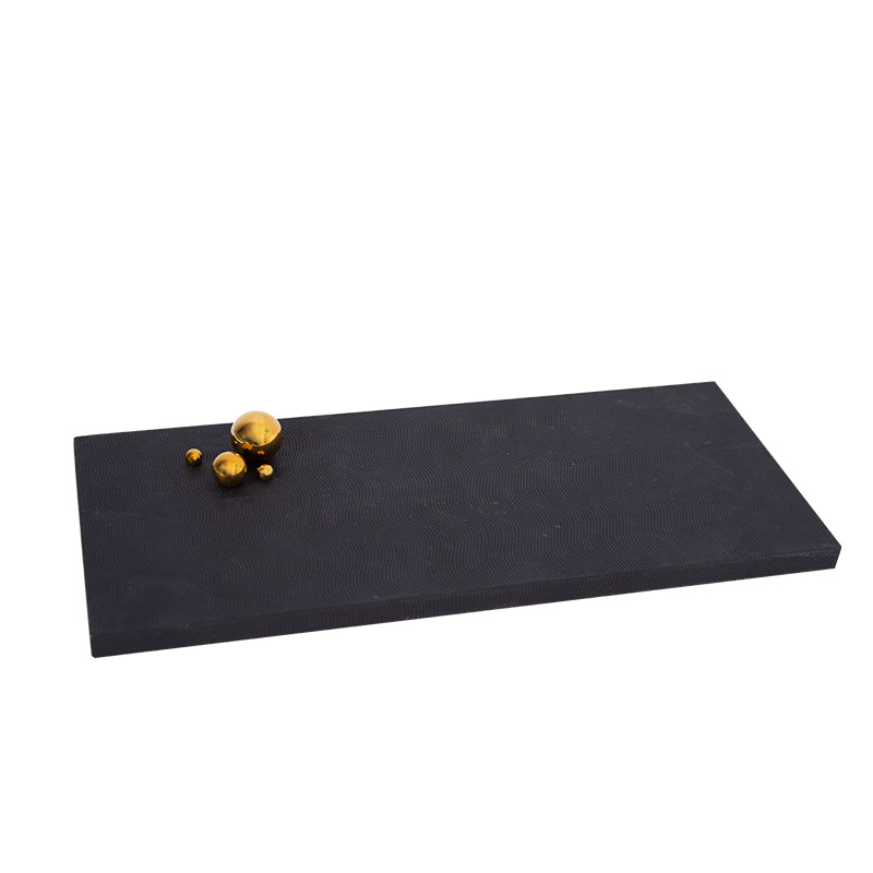 Pre-Order 40 Days Black rectangle & metal ball tray FB-PG2008A -  اطلب مسبقًا 40 يومًا من المستطيل الأسود وصينية كروية معدنية - Shop Online Furniture and Home Decor Store in Dubai, UAE at ebarza