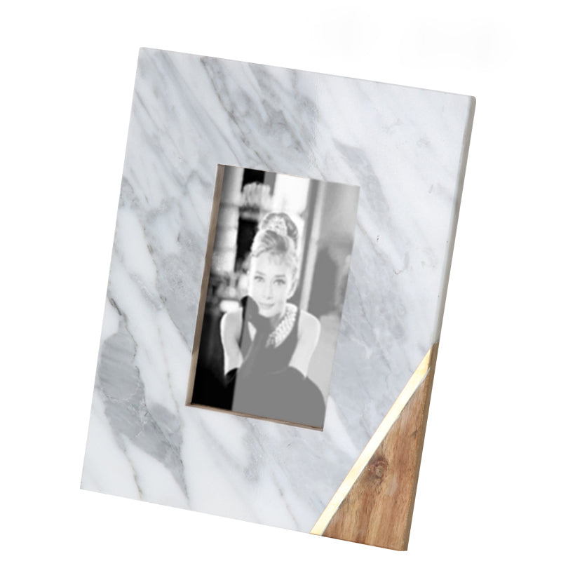 White  natural marble photo frame FB-T1919A
