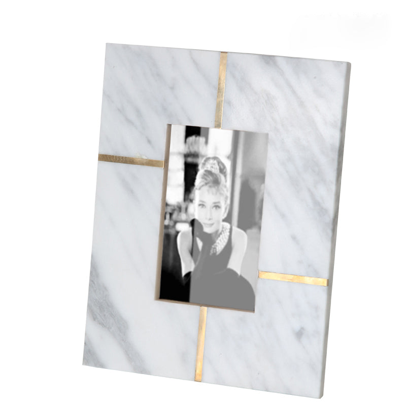 White  natural marble photo frame FB-T1920A