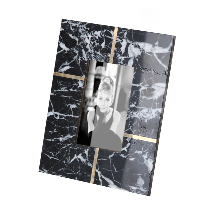 Black natural marble photo frame FB-T1920B