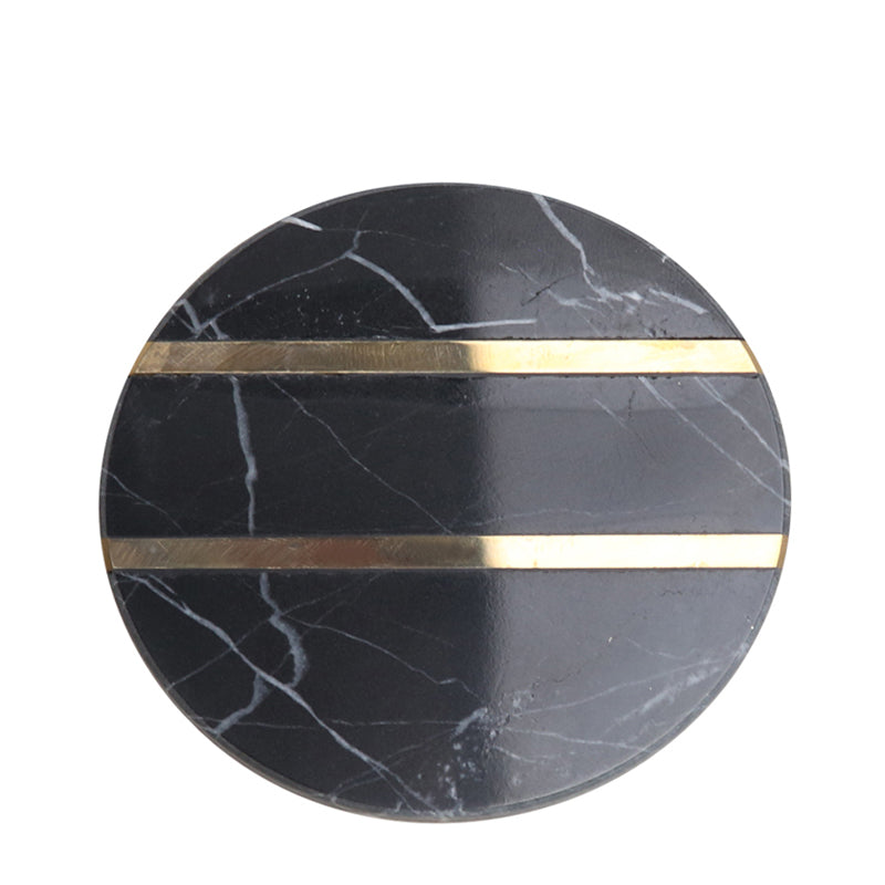 Pre-Order 40 Days Black marble coaster- circular FB-T1923A -  طلب مسبق 40 يوم كوستر رخام أسود دائري - Shop Online Furniture and Home Decor Store in Dubai, UAE at ebarza