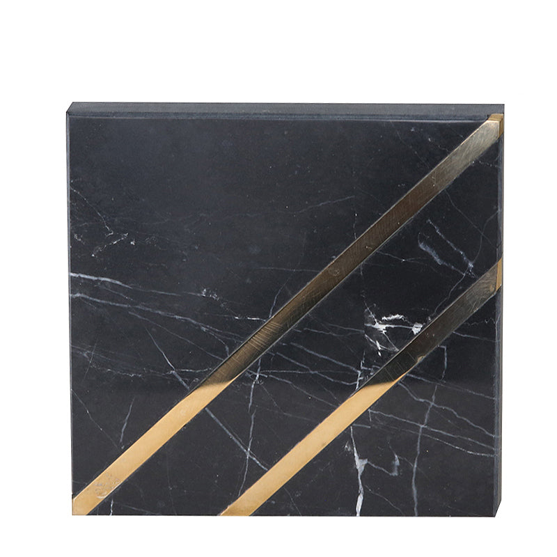 Pre-Order 40 Days Black marble coaster- hexagon FB-T1923B -  اطلب مسبقًا 40 يومًا من كوستر الرخام الأسود- سداسي - Shop Online Furniture and Home Decor Store in Dubai, UAE at ebarza