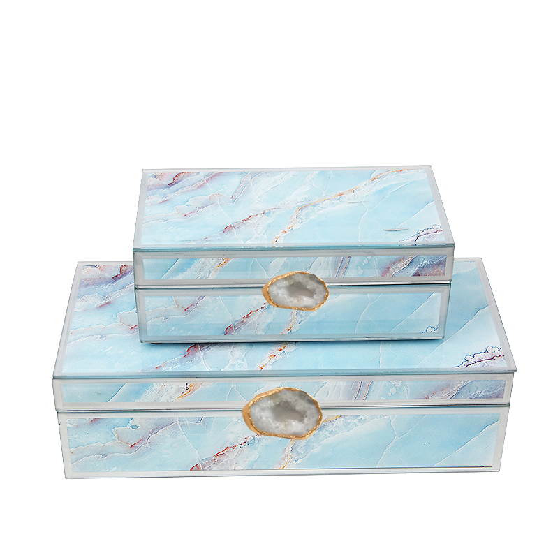 2x Handmade Decorative/JEWELRY BOX FL-TZ1030B+A -  2x ديكور يدوي / صندوق مجوهرات - Shop Online Furniture and Home Decor Store in Dubai, UAE at ebarza