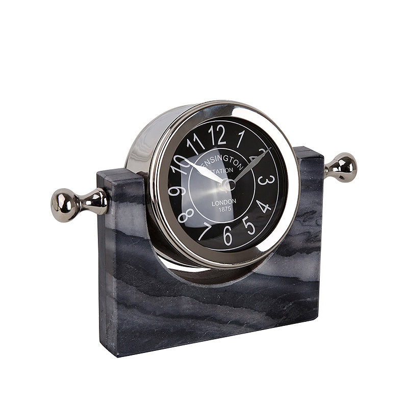 Natural Marble clock FL-Y874