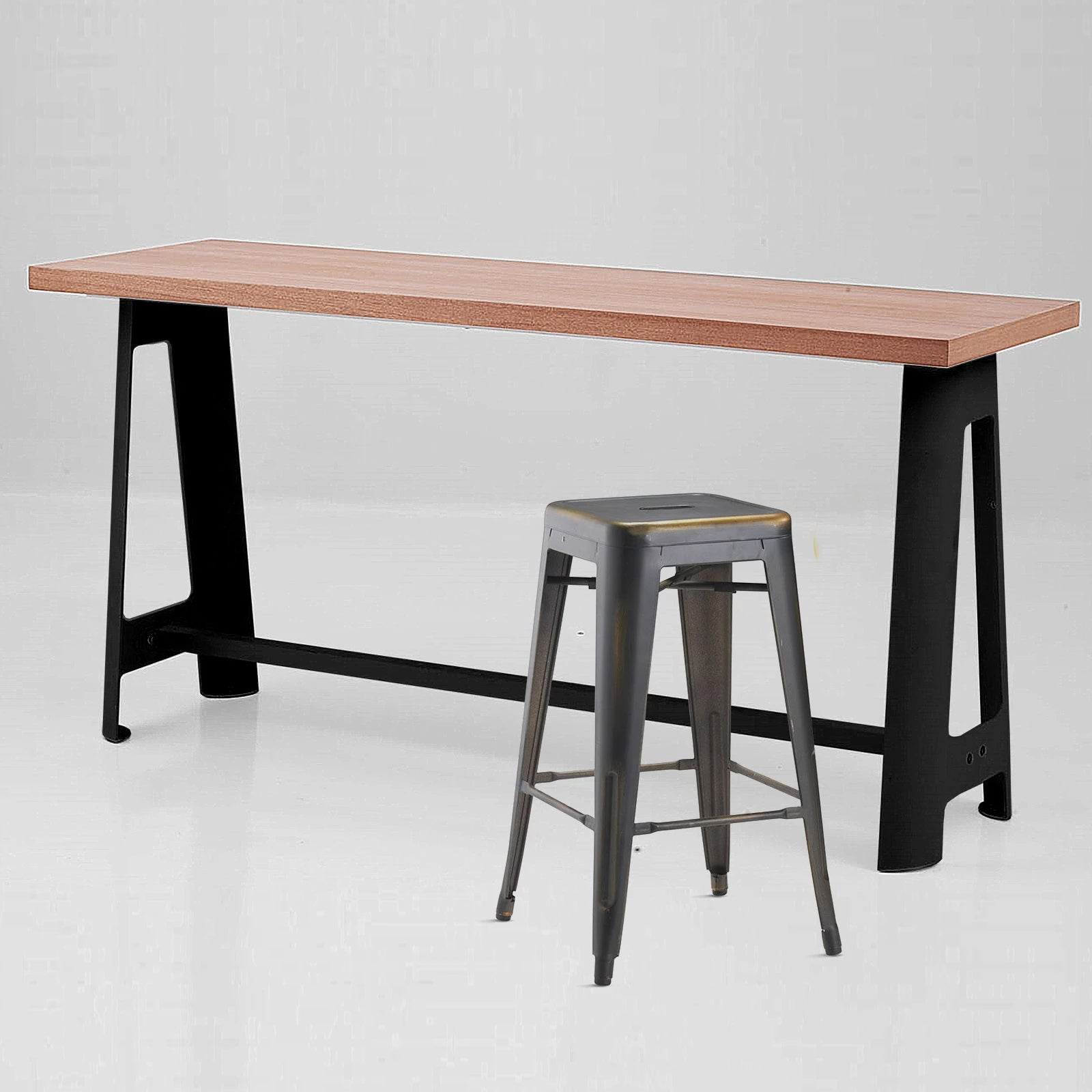Industrial Long bar table GT-304-NB -  طاولة بار طويلة صناعية - Shop Online Furniture and Home Decor Store in Dubai, UAE at ebarza