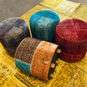 HALI X-Bursa Handmade over dyed Pouf GREY001