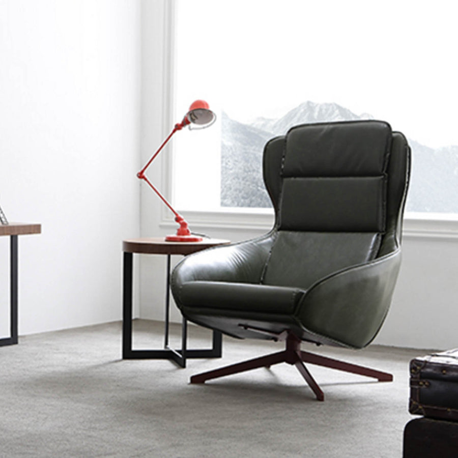Reims Swivel Lounge Chair  LC002-GRN - ebarza