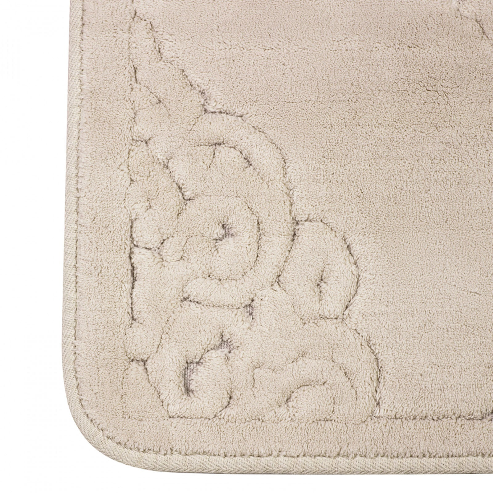 Karaca Home Damila Ecru 2 Pieces Bath Mat 200.15.01.0268 -  سجادة حمام من كاراجا قطعتان - Shop Online Furniture and Home Decor Store in Dubai, UAE at ebarza