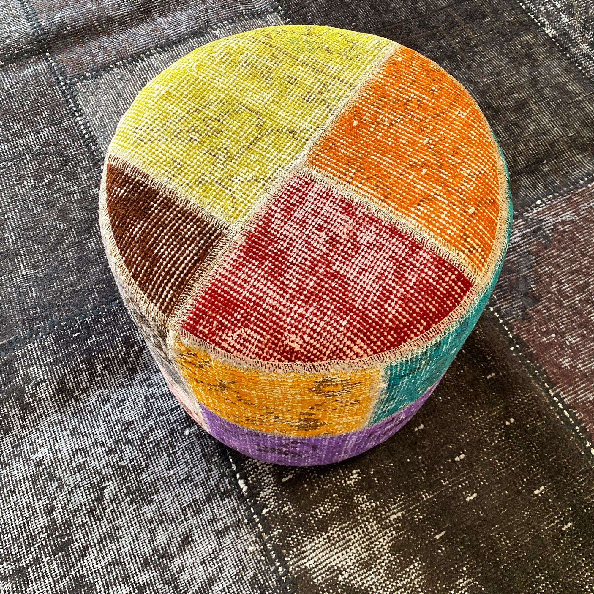 HALI X-Bursa Handmade over dyed Pouf MULTI001