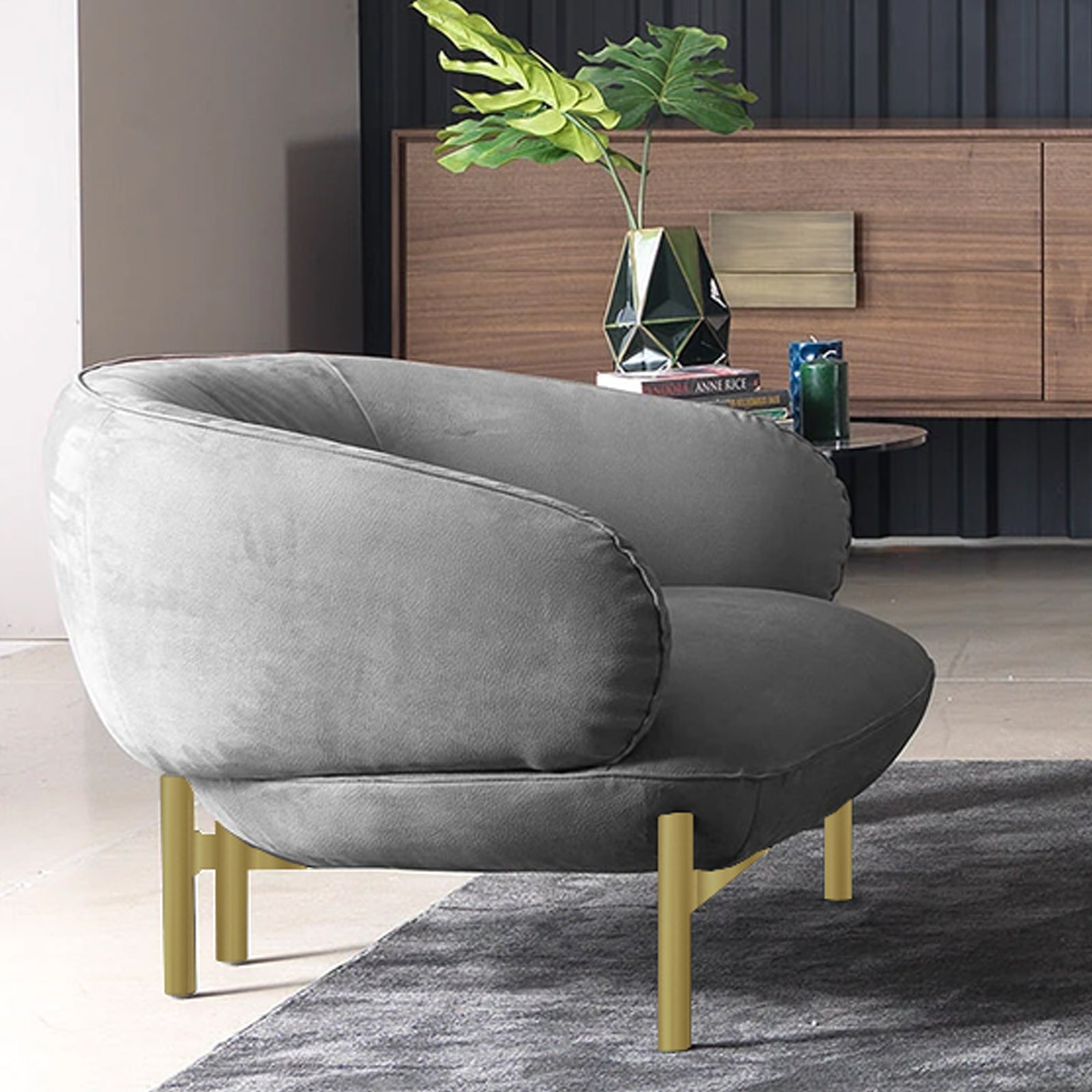 NEXT Armchair   NEXT002-Chair-G -  كرسي بذراعين نيكست - Shop Online Furniture and Home Decor Store in Dubai, UAE at ebarza