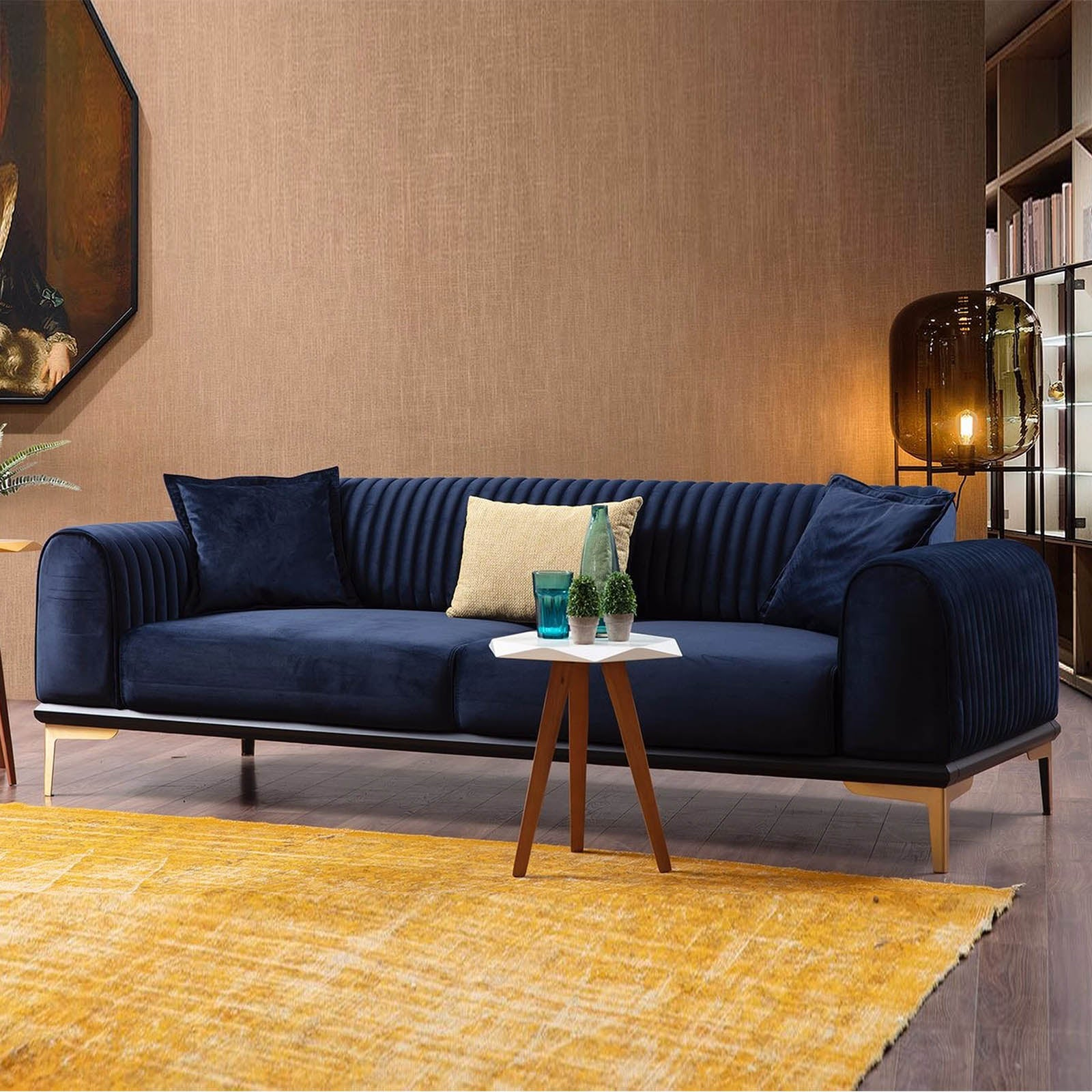Nirvana 3 Seater Sofa-Bed  NIRV003-BLUE -  أريكة بثلاث مقاعد نيرفانا - Shop Online Furniture and Home Decor Store in Dubai, UAE at ebarza