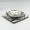 Handmade Zinc Decorative tray  Chrome 48178A000 - ebarza