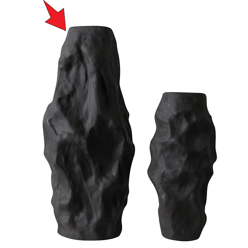 Pre-Order 40 Days Black  Irregular Vase-A FA-D2064A -  اطلب مسبقًا مزهرية سوداء غير منتظمة لمدة 40 يومًا - Shop Online Furniture and Home Decor Store in Dubai, UAE at ebarza