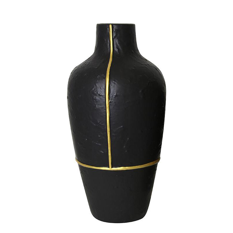 Pre-Order 40 Days Black vase with gold thread-A FA-D1956A -  اطلب مسبقًا مزهرية سوداء لمدة 40 يومًا بخيط ذهبي - Shop Online Furniture and Home Decor Store in Dubai, UAE at ebarza