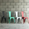 Set of 4 Distressed Antique Vintage  Dinning Chair T01-RE   (12-1-B2-L1) - ebarza