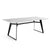Pre-order 40 days delivery 200 cm Black Jack  quartz Dinning Table  DT001