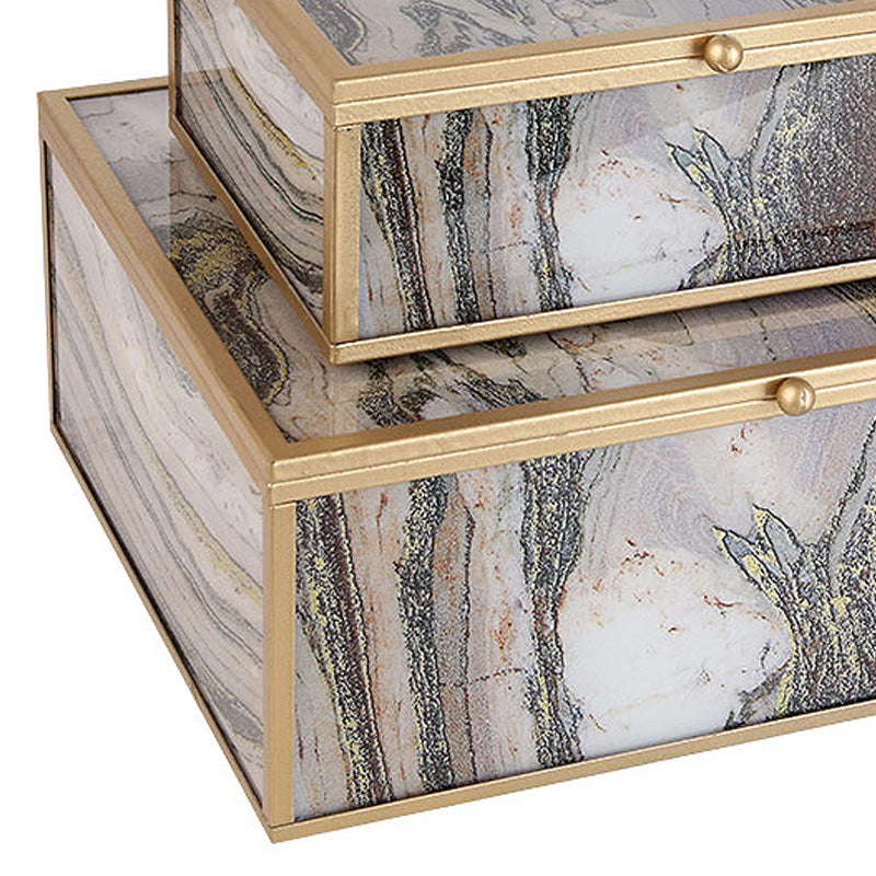 2x Handmade Decorative/JEWELRY BOX FACBJ12B+A -  2x ديكور يدوي / صندوق مجوهرات - Shop Online Furniture and Home Decor Store in Dubai, UAE at ebarza