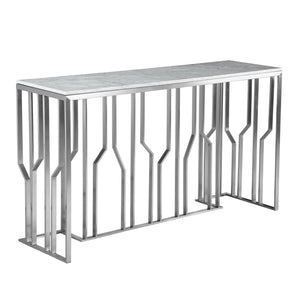Natural Marble & Stainless Steel console Table BP8812-S