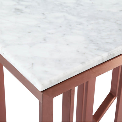 Natural Marble & Stainless Steel console Table BP8812- S-RG - ebarza