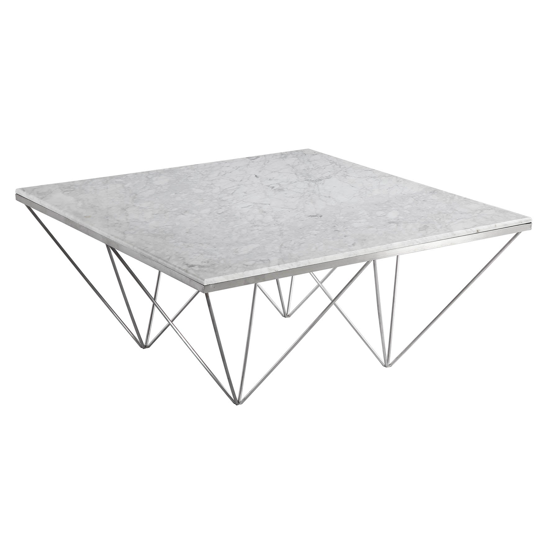Natural Marble & Stainless Steel Table BP8810- B -  طاول من الرخام الطبيعي والفولاذ المقاوم للصدأ - Shop Online Furniture and Home Decor Store in Dubai, UAE at ebarza