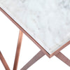 Natural Marble & Stainless Steel Table BP8809- RG - ebarza