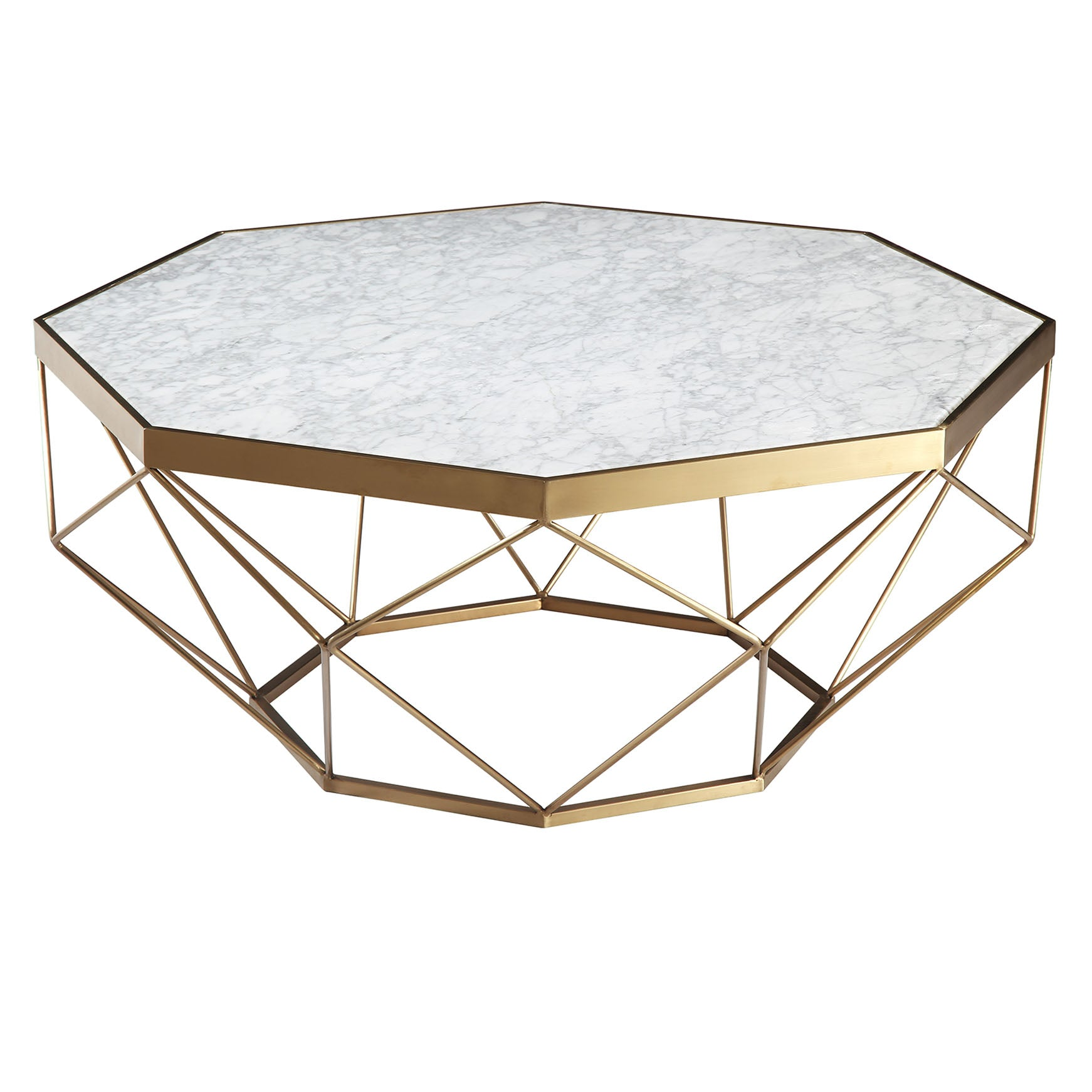 Natural Marble & Stainless Steel Table BP8811- B -  طاول من الرخام الطبيعي والفولاذ المقاوم للصدأ - Shop Online Furniture and Home Decor Store in Dubai, UAE at ebarza