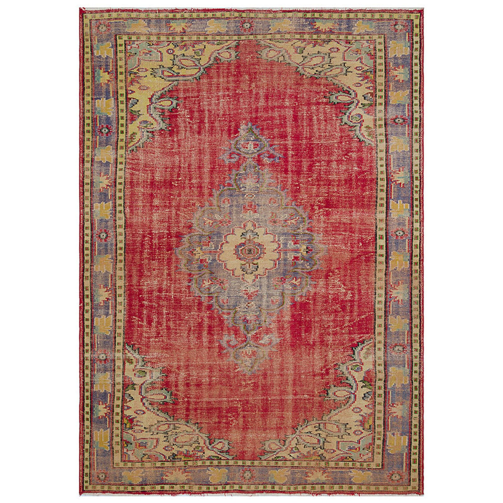 Hali 205X290  CM Bursa Handmade over dyed rug  2065 -  205*290 سجاده بورصة صناعة يدوية على بساط مصبوغ - Shop Online Furniture and Home Decor Store in Dubai, UAE at ebarza