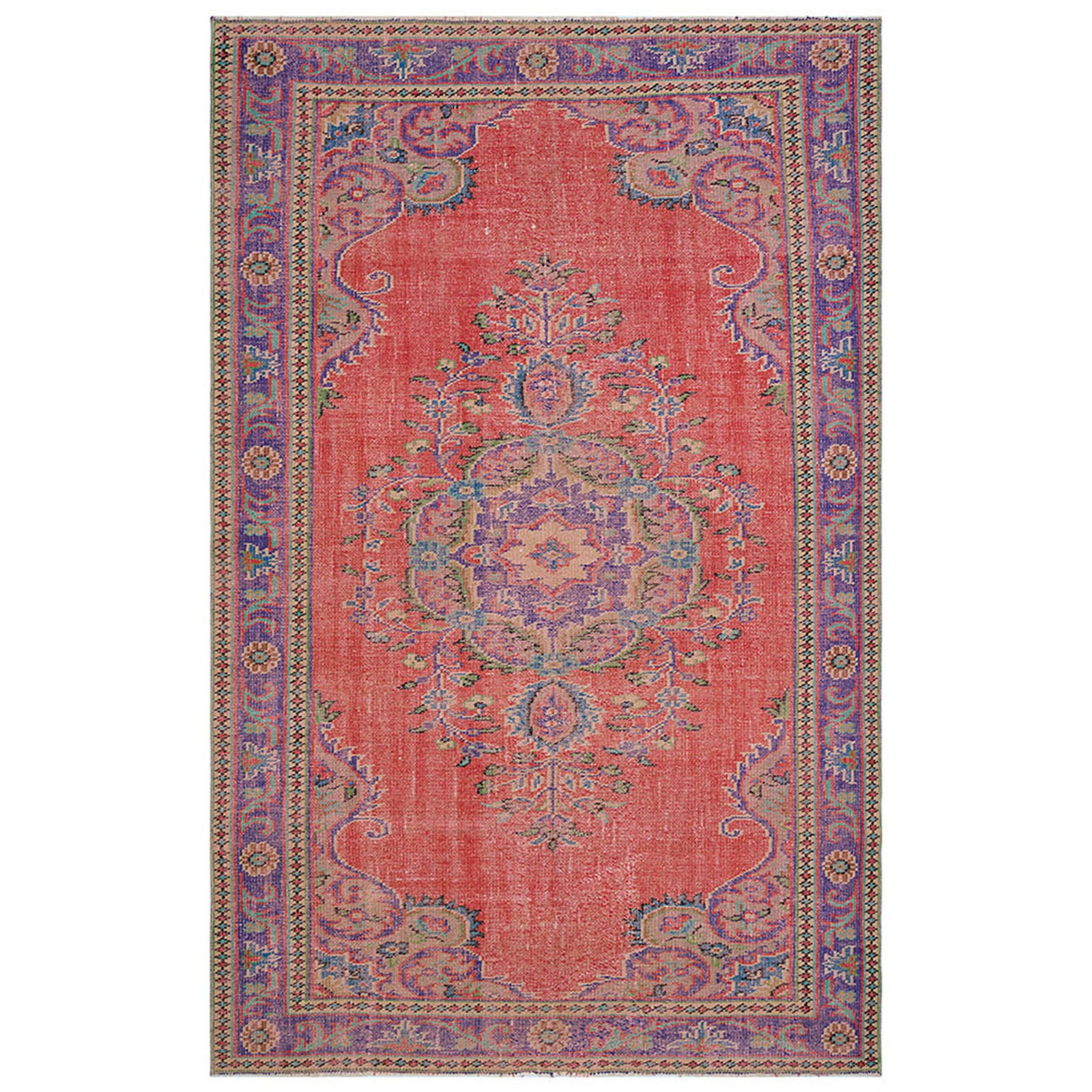 Hali 176X284  CM Bursa Handmade over dyed rug  2030 -  176*284 سجاده بورصة صناعة يدوية على بساط مصبوغ - Shop Online Furniture and Home Decor Store in Dubai, UAE at ebarza