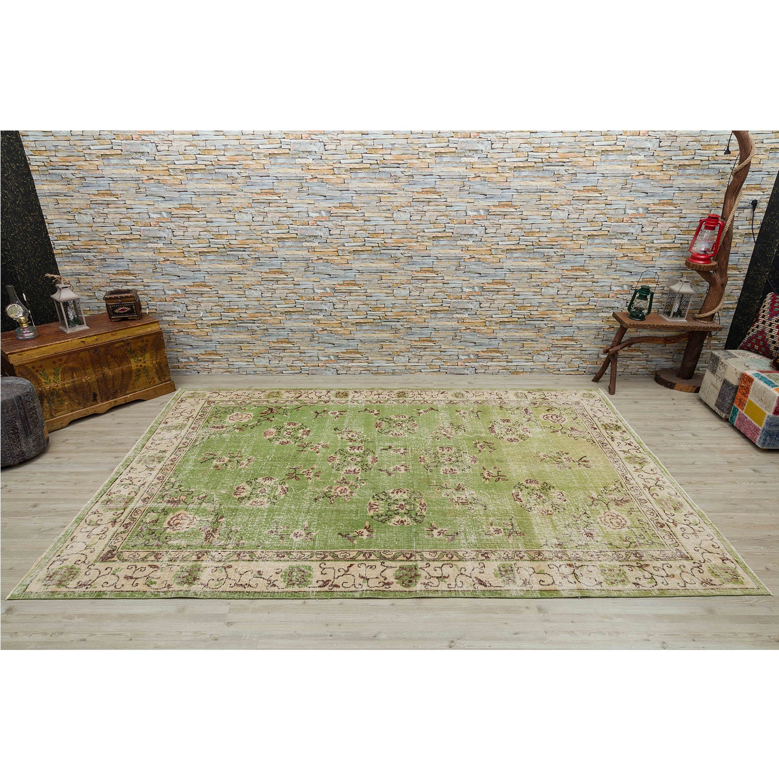 Hali 197X309  CM Bursa Handmade over dyed rug  2524