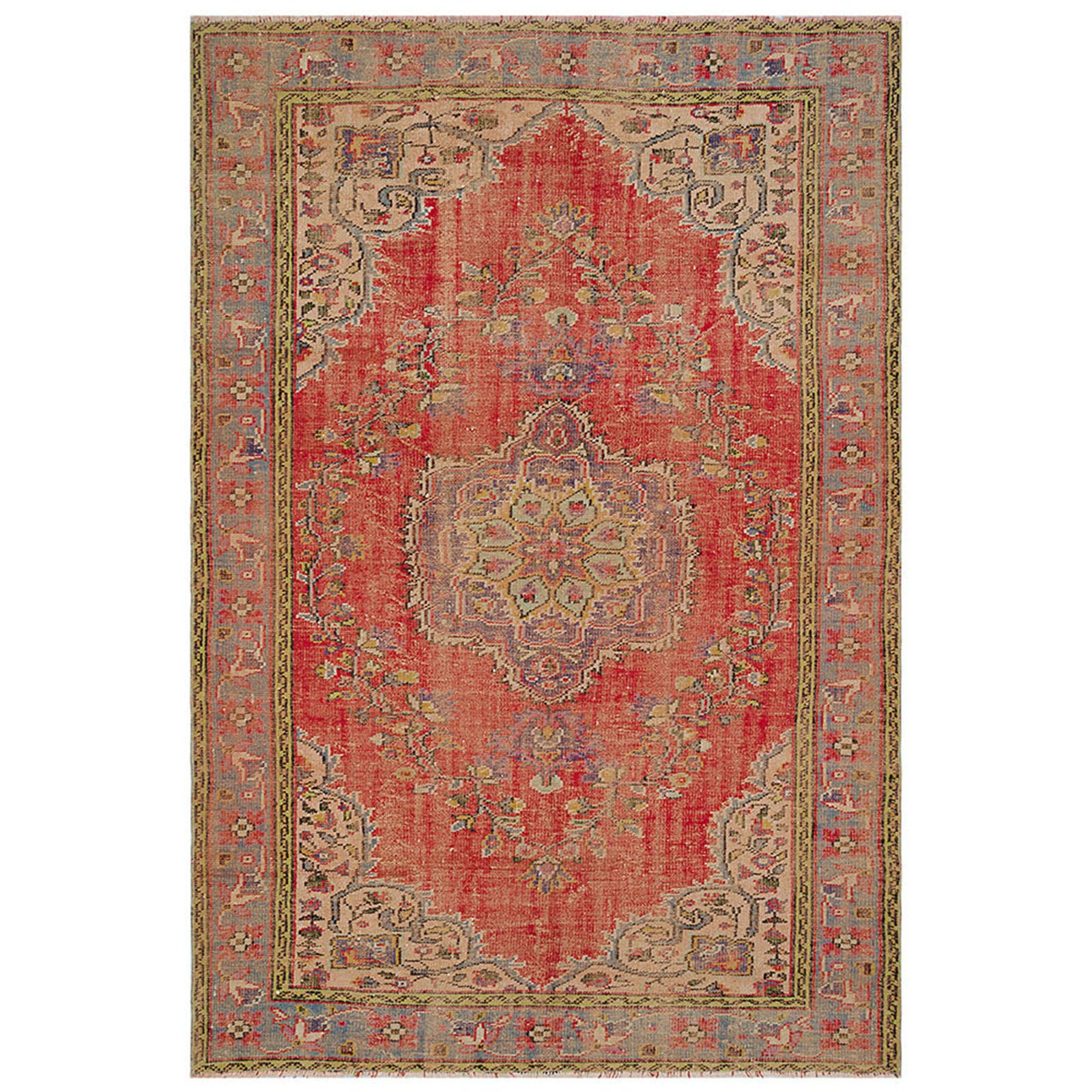 Hali 196X284  CM Bursa Handmade over dyed rug  2029 -  196*284 سجاده بورصة صناعة يدوية على بساط مصبوغ - Shop Online Furniture and Home Decor Store in Dubai, UAE at ebarza