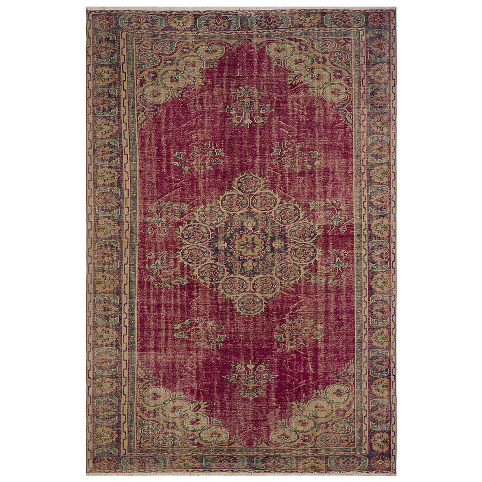 Hali 204X308  CM Bursa Handmade over dyed rug  2017 -  204*308 سجاده بورصة صناعة يدوية على بساط مصبوغ - Shop Online Furniture and Home Decor Store in Dubai, UAE at ebarza