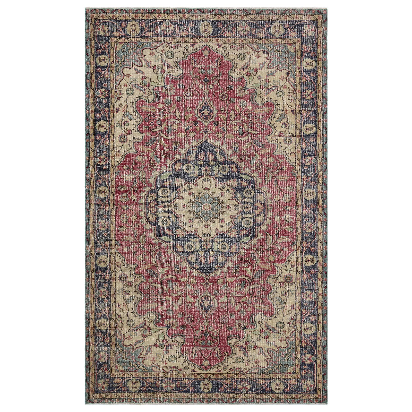 Hali 155X253  CM Bursa Handmade over dyed rug 1969