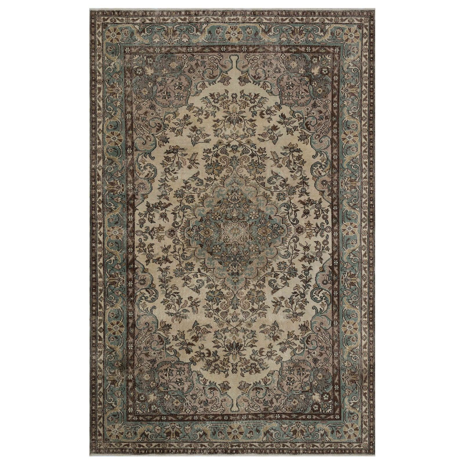 Hali 200X314 CM Bursa Handmade over dyed rug 1800 -  200*314 سجاده بورصة صناعة يدوية على بساط مصبوغ - Shop Online Furniture and Home Decor Store in Dubai, UAE at ebarza
