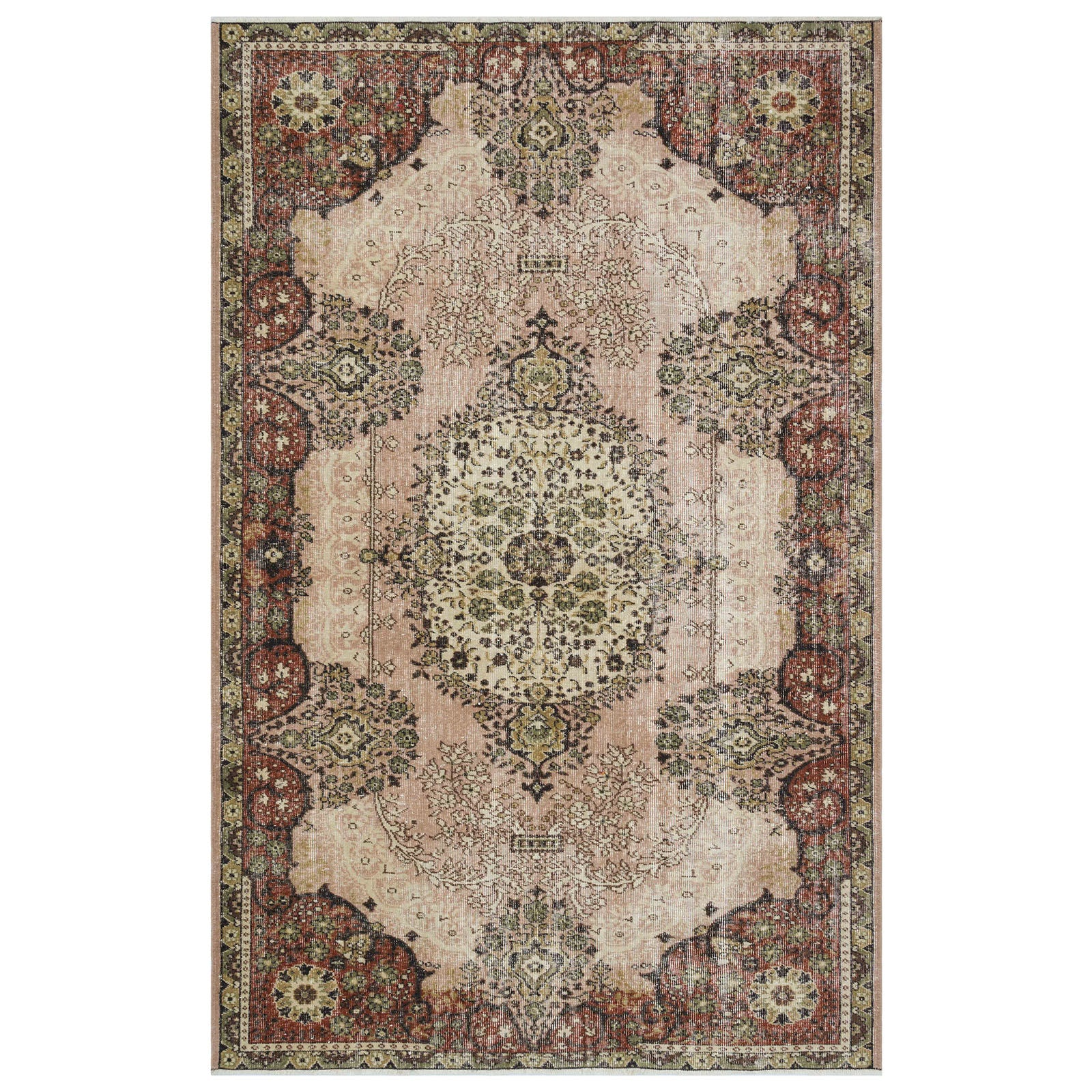 Hali 179X276  CM Bursa Handmade over dyed rug  1776 -  179*276 سجاده بورصة صناعة يدوية على بساط مصبوغ - Shop Online Furniture and Home Decor Store in Dubai, UAE at ebarza