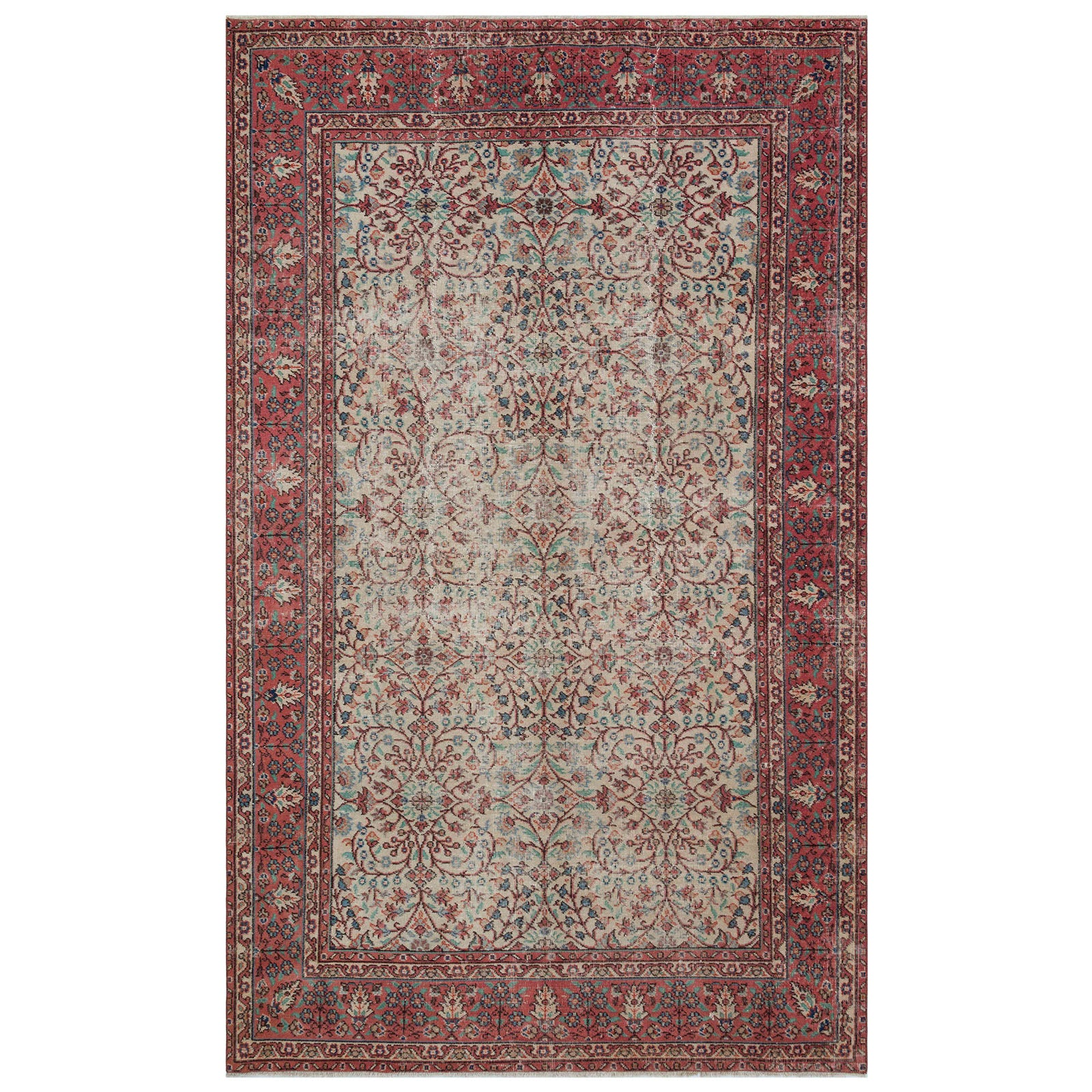 Hali 190X305 CM Bursa Handmade over dyed rug 1743 -  190*305 سجاده بورصة صناعة يدوية على بساط مصبوغ - Shop Online Furniture and Home Decor Store in Dubai, UAE at ebarza