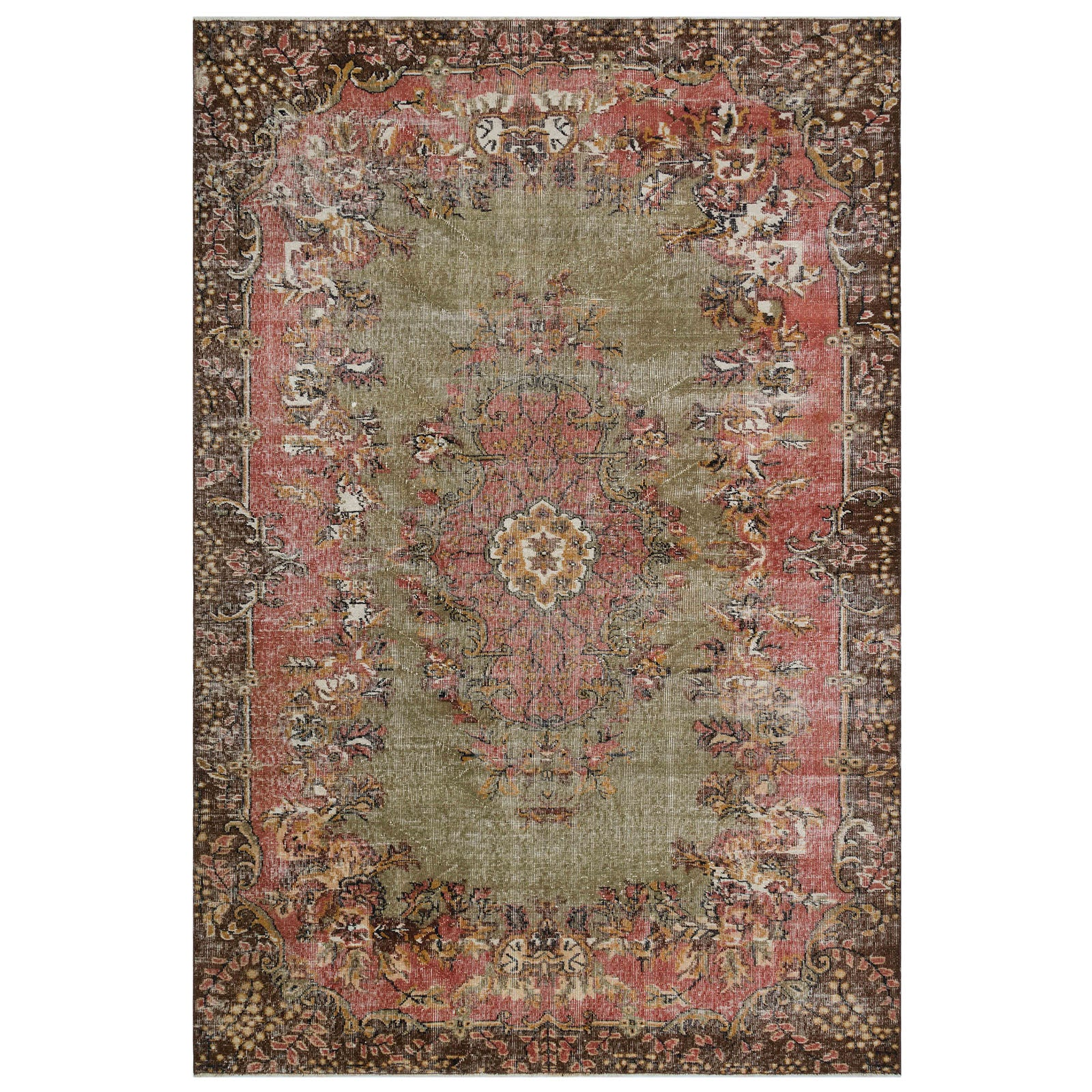 Hali 198X294  CM Bursa Handmade over dyed rug  1715