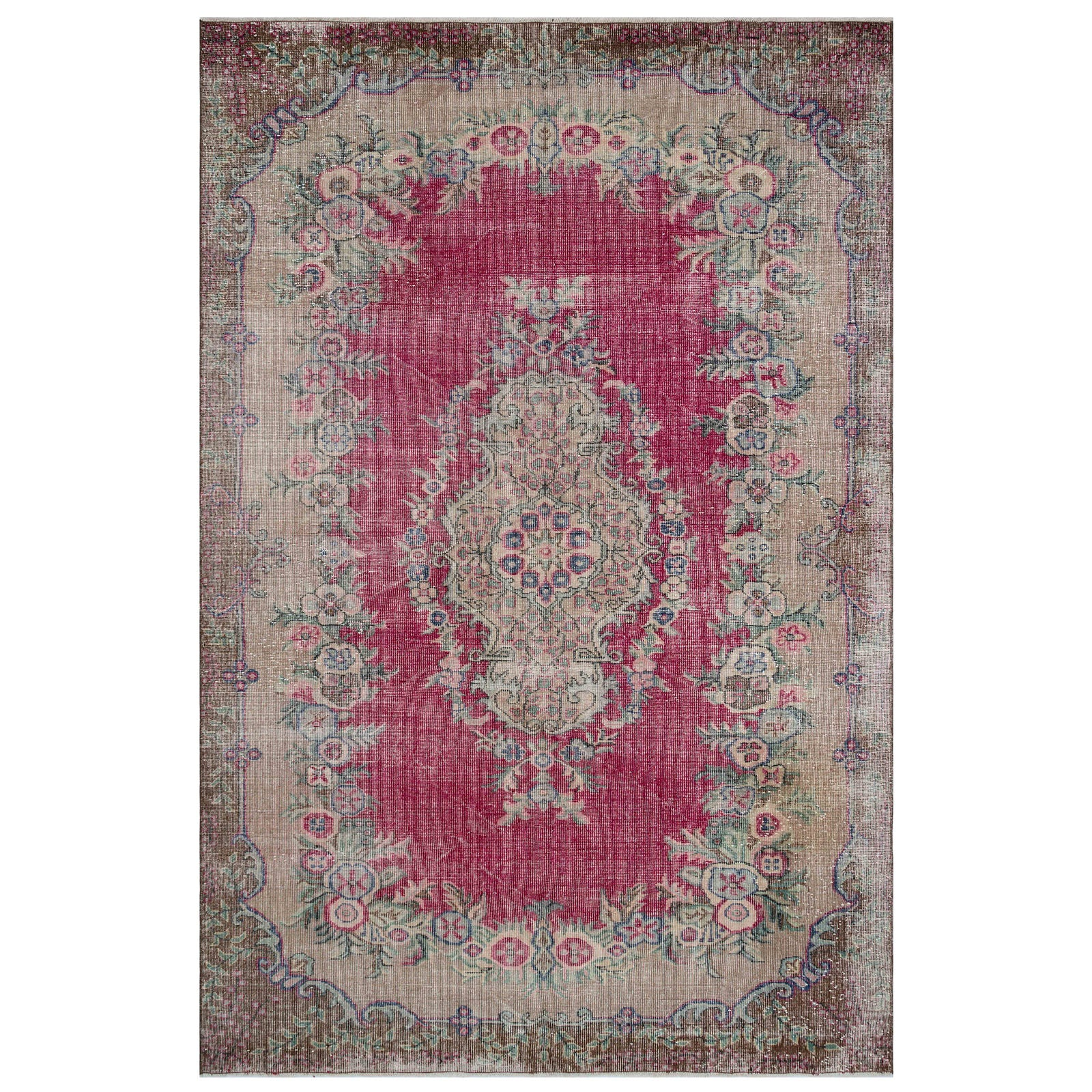 Hali 191X285 CM Bursa Handmade over dyed rug 1673