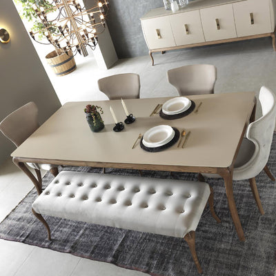 HERMES  dining table + 6 chairs  HER001