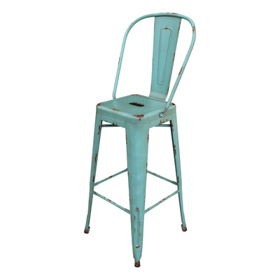 Bar Stool - Distressed Antique Vintage Bar Stool BP8413-DT