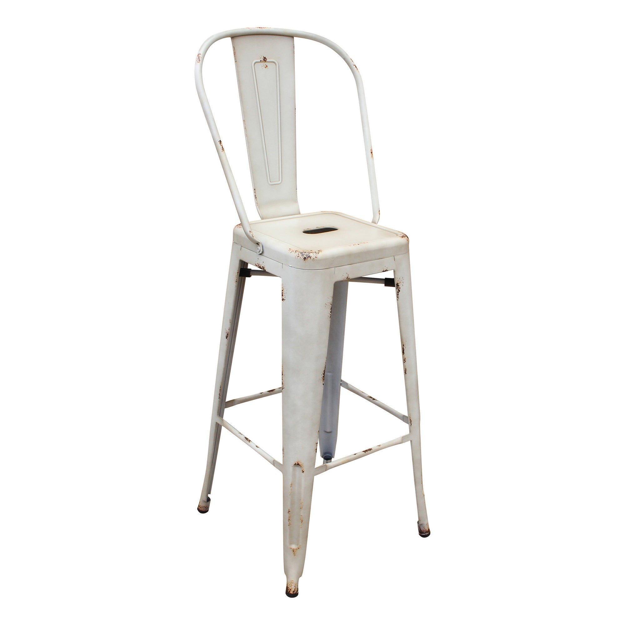 Bar Stool - Distressed Antique Vintage Bar Stool BP8413-DW