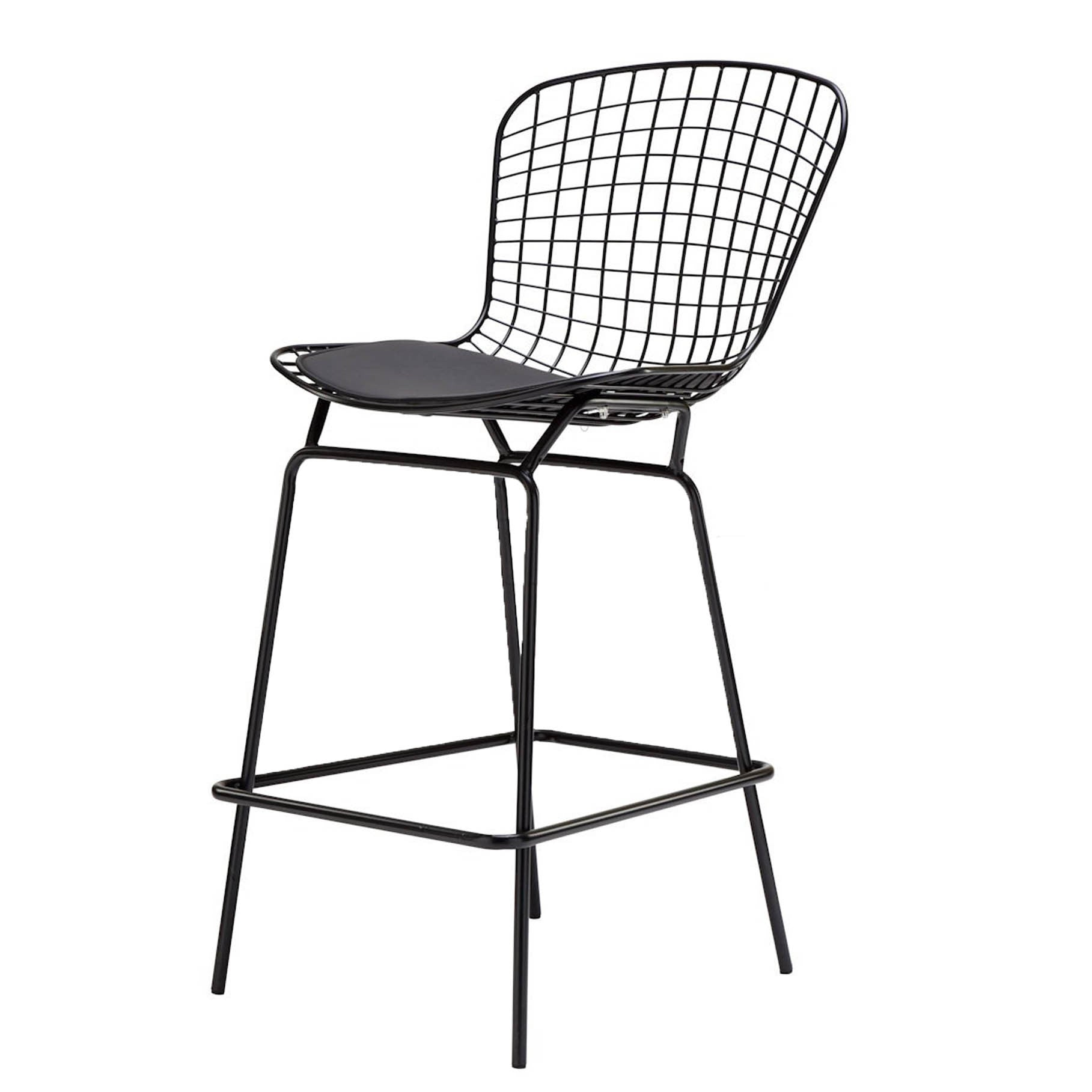 Wire Bar Stool & Cushion MC-020Q-B/Bp8601 -  كرسي سلك بار والوسادة - Shop Online Furniture and Home Decor Store in Dubai, UAE at ebarza